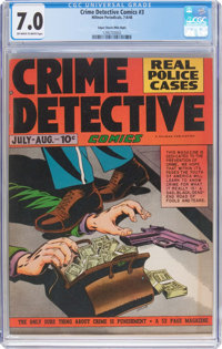 Crime Detective Comics #3 Mile High Pedigree (Hillman Fall, 1948) CGC FN/VF 7.0 Off-white to white pages