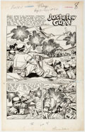 Original Comic Art:Splash Pages, Rocco Mastroserio (as Rocke) This Is War #6 Splash PageOriginal Art (Standard, 1952)....