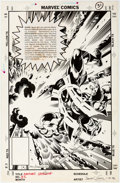 Original Comic Art:Splash Pages, James Fry and Randy Emberlin Avengers Spotlight #31 SplashPage 23 Original Art (Marvel, 1990)....