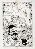 Original Comic Art:Splash Pages, Marc Campos and Nick Napolitano Guy Gardner: Warrior #39Splash Page 22 Original Art (DC, 1996)....