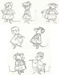 Animation Art:Poster, The Great Mouse Detective Character Rough Drawings PrintGroup of 3 (Walt Disney, 1986).... (Total: 3 Items)