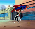 Animation Art:Production Cel, Superman: The Animated Series Superman and Maxima ProductionCel and Key Master Background (Warner Brothers, 1997).... (Total: 2)
