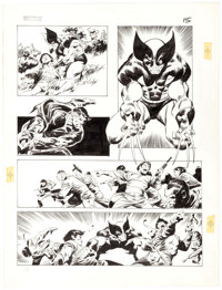 John Buscema Wolverine: Bloody Choices #nn Graphic Novel Story Page 15 Original Art (Marvel, 1991)