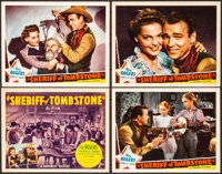 "Sheriff of Tombstone (Republic, 1941). Title Lobby Card & Lobby Cards (3) (11"" X 14""). Western. ... (Total..."