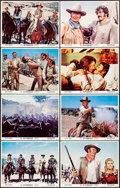 """Movie Posters:Western, The Undefeated (20th Century Fox, 1969). Very Fine. Lobby Card Set of 8 (11"""" X 14""""). Western.. ... (Total: 8 Items)"""