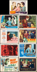 """Movie Posters:Thriller, Man Hunt & Others Lot (20th Century Fox, 1941). Title Lobby Card & Lobby Cards (8) (11"""" X 14""""). Thriller.. ... (Total: 9 Items)"""