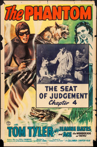 """The Phantom (Columbia, 1943). One Sheet (27"""" X 41"""") Chapter 4 -- """"The Seat of Judgement."""" Serial..."""