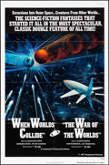 "Movie Posters:Science Fiction, When Worlds Collide/The War of the Worlds Combo (Paramount, R-1977) Folded, Very Fine-. One Sheet (27"" X 41""). Science Ficti..."