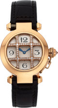 Estate Jewelry:Watches, Cartier Lady's Diamond, Gold Pasha 32 Watch. ...