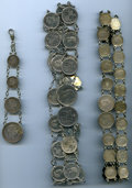 Three Chains containing a total of 61 1883 Hawaii Coins. The first chain has four coins: (2) dimes, (1) quarter, and (1)...