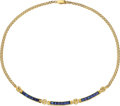 Estate Jewelry:Necklaces, Sapphire, Diamond, Gold Necklace . ...