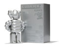 Fine Art - Sculpture, American:Contemporary (1950 to present), KAWS X realMad Hectic. Kubrick 400% (Silver), 2003. Paintedcast vinyl. 9-3/4 x 6-3/4 x 3-1/4 inches...