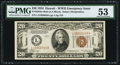 Small Size:World War II Emergency Notes, Fr. 2304 $20 1934 Mule Hawaii Federal Reserve Note. PMG About Uncirculated 53.. ...