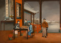 Asian:Chinese, Two Chinese Export Paintings Depicting Domestic Interiors, Canton,Qing Dynasty, 19th century. 25-1/2 inches high x 35-1/2 i...(Total: 2 Items)