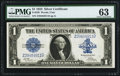 Large Size:Silver Certificates, Fr. 239 $1 1923 Silver Certificate PMG Choice Uncirculated 63.. ...