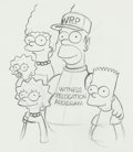 Animation Art:Production Drawing, The Simpsons Animation Drawings Group of 6 (Fox Studios,1993).... (Total: 6 Original Art)