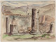 Oscar Cesare Views of Pompeii and Other Studies Original Preliminary Art Group of 10 (1918-1920)