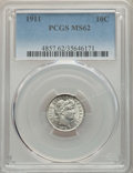 Barber Dimes: , 1911 10C MS62 PCGS. PCGS Population: (205/867). NGC Census: (145/623). MS62. Mintage 18,870,544. ...