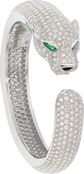 Estate Jewelry:Bracelets, Diamond, Emerald, Black Onyx, White Gold Bracelet, Cartier, French....