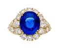 Estate Jewelry:Rings, Ceylon Sapphire, Diamond, Gold Ring, Van Cleef & Arpels, French. ...