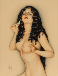 Alberto Vargas (American, 1896-1982) Broadway Showgirl, 1928 Watercolor and pencil on board 24.25