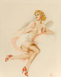 Alberto Vargas (American, 1896-1982) Intrusion, 1928 Watercolor and pencil on board 20.5 x 16 in
