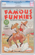 Platinum Age (1897-1937):Miscellaneous, Famous Funnies #14 (Eastern Color, 1935) CGC VG/FN 5.0 Cream tooff-white pages....