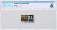 "Neil Armstrong Signed ""First Man On The Moon"" Single Mint Stamp, Scott #C76, Directly From The Armstrong Famil..."