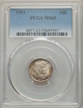 Barber Dimes: , 1911 10C MS63 PCGS. PCGS Population: (288/581). NGC Census: (196/427). MS63. Mintage 18,870,544. ...
