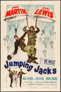 """Movie Posters:Comedy, Jumping Jacks (Paramount, 1952). Folded, Very Fine-. One Sheet (27"""" X 41""""). Comedy.. ..."""