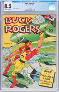 Golden Age (1938-1955):Adventure, Buck Rogers #4 (Eastern Color, 1942) CGC VF+ 8.5 Off-white to white pages....