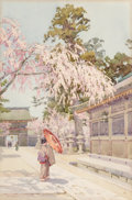 Works on Paper, Ella Du Cane (British, 1850-1960). The Drooping Cherry, circa 1908. Watercolor on paper. 17-1/2 x 11-1/2 inches (44.5 x ...