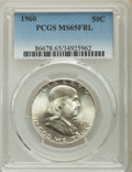 Franklin Half Dollars, 1960 50C MS65 Full Bell Lines PCGS. PCGS Population: (1101/95). NGC Census: (164/4). CDN: $165 Whsle. Bid for problem-free ...