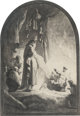 After Rembrandt van Rijn (Dutch) The Raising of Lazarus Etching on paper 14-5/8 x 10-1/8 inches (37.1 x 25.7 cm) (ima...