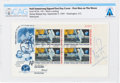 """Explorers:Space Exploration, Neil Armstrong Signed """"First Man On The Moon"""" Plate Block First Day Cover Directly From The Armstrong Family Collection™, ..."""