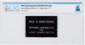 Explorers:Space Exploration, NASA: Neil Armstrong's Personal Leather Name Tag Directly From The Armstrong Family Collection™, Certified and Encapsulate...