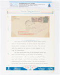 Explorers:Space Exploration, Graf Zeppelin LZ-127: Flown First Flight Cover from Lakehurst, NewJersey, to Berlin, Germany, October 28, 1928, Directly ...