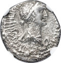 Ancients:Roman Republic, Ancients: Cleopatra VII of Egypt and Marc Antony, rulers of the East (37-31 BC). AR denarius (18mm, 3.89 gm, 12h). NGC Choice VF 4/5 - 2...