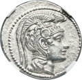 Ancients:Greek, Ancients: ATTICA, Athens. Ca. 165-42 BC. AR tetradrachm (30mm, 16.84 gm, 10h). NGC Choice AU 4/5 - 5/5....