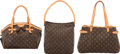 Luxury Accessories:Bags, Louis Vuitton Set of Three: Brown Monogram Coated Canvas Bags. Condition: 3. See Extended Condition Report for Sizes... (Total: 3 )