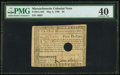 Colonial Notes, Massachusetts May 5, 1780 $5 PMG Extremely Fine 40, HoleCancelled.. ...