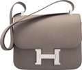 """Luxury Accessories:Bags, Hermes 23cm Etain Epsom Leather Double Gusset Constance Bag withPalladium Hardware. C, 2018. Condition: 1. 9""""Wid..."""
