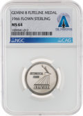 Explorers:Space Exploration, Gemini 8 Flown MS64 NGC Silver Fliteline Medallion Directly From The Armstrong Family Collection™, Certified and Encapsulated ...