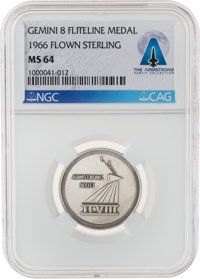 Gemini 8 Flown MS64 NGC Silver Fliteline Medallion Directly From The Armstrong Family Collection™, Certified and Encapsu...