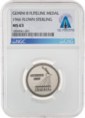 Explorers:Space Exploration, Gemini 8 Flown MS63 NGC Silver Fliteline Medallion Directly From The Armstrong Family Collection™, Certified and Encapsulated ...