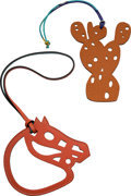 """Luxury Accessories:Accessories, Hermes Set of Two: Petit H Multicolor Cactus & Horse Charms. Condition: 1. 3.5"""" Width x 5"""" Height. 4.5"""" Width x 4""""... (Total: 2 Items)"""