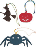 """Luxury Accessories:Accessories, Hermes Set of Three: Petit H Multicolor Pumpkin, Witch, & Spider Charms. Condition: 1. 3"""" Width x 3"""" Height. 3.5"""" ... (Total: 3 )"""