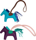 """Luxury Accessories:Accessories, Hermes Set of Two: Hermes Rodeo PM Charms. Condition: 1. 3.5"""" Width x 3"""" Height x .5"""" Depth. ... (Total: 2 )"""