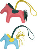 """Luxury Accessories:Accessories, Hermes Set of Two: Hermes Rodeo Charms. Condition: 2. 3.5"""" Width x 3"""" Height x .5"""" Depth. 4.5"""" Width x 4"""" Height x... (Total: 2 )"""