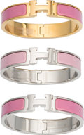 """Luxury Accessories:Accessories, Hermes Set of 3: Clic Clac H PM Bracelets. Condition: 1 . 0.5"""" Width x 6.5"""" Length. ... (Total: 3 )"""
